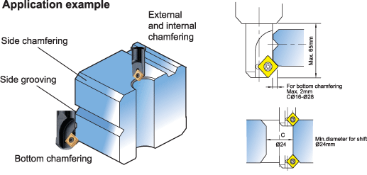 Large chamfering tools with indexable insert 2